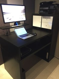 aufstehen computer schreibtisch ikea schreibtisch pinterest aufstehen schreibtische und. Black Bedroom Furniture Sets. Home Design Ideas