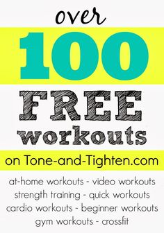 Links to over 100 free workouts
