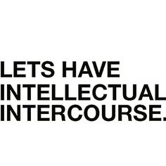 intellectual intercourse