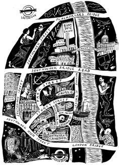 Stephanie von Reiswitz - Map of Southwark #map #hand drawn #art