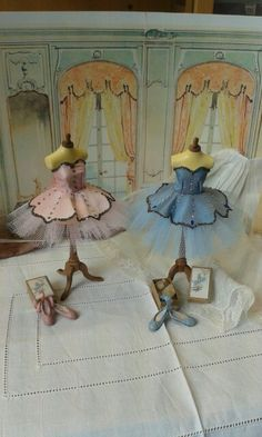 Lovely Miniature Ballet Supply Store - Display - Room Box - 1/12 scale