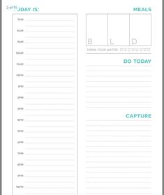 Planner Template, Printable Planner, Free Printables, Life Organization, Organizing, Weekly Planner, Planners, Journals, Templates