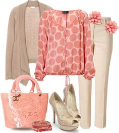 """Polka Dots Casual"" by yasminasdream ❤ liked on Polyvore"