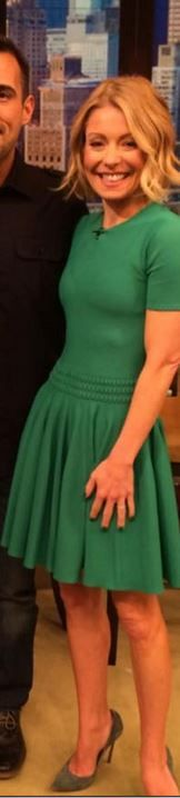 Who Made Kelly Ripa S Blue Peplum Dress My Style