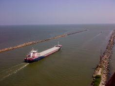Where the Danube meet the Black Sea - at Sulina.