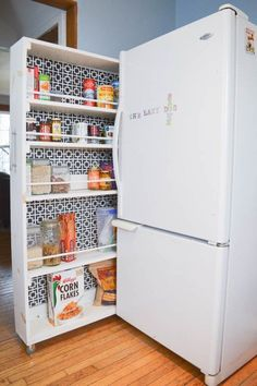 This storage hack is proof that no kitchen or space is too tiny for a pretty pantry.                                                                                                                                                      More