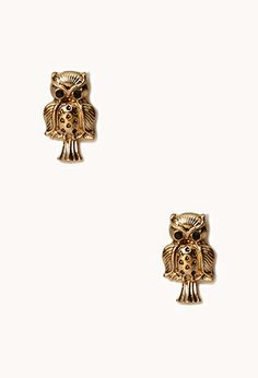 Etched Owl Studs | FOREVER21 - 1062148256