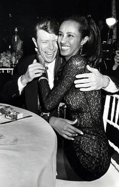 David Bowie and Iman Photo - Photos: Rock Stars and the Models Who Love Them   Rolling Stone