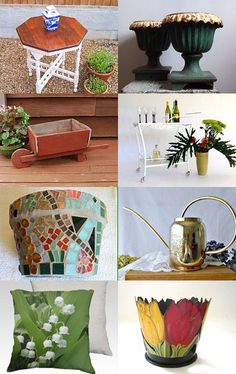 #Garden Spruce Up Your Garden!     epsteam by Patti Richmond Mills on Etsy