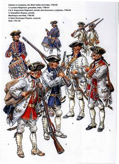 French Infantry in America and India