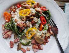 Chop Suey, Risotto, Bacon, Keto, Ethnic Recipes, Food, Eggplant, Essen, Meals