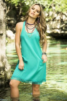 Turquoise Cool Summer Dress