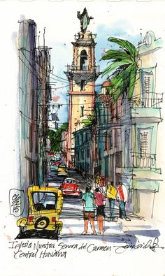 Jim Richards - Exploring Central Havana (Urban Sketchers)