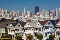 "San Francisco Painted Ladies.  Reminds one of ""Full House"" doesn't it!!!"