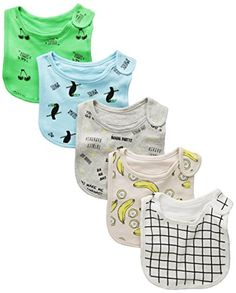 Rosie Pope Baby Newborn Boy's 5 Pack Tucan and Banana The…