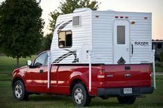 Rayzr FB truck camper on a half ton Ford F150, http://www.truckcampermagazine.com/camper-reviews/2016-rayzr-fb-review/