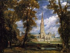 John Constable, Salisbury Cathedral from the Bishop's Garden, 1820. Oil on canvas, 91 x 112 cm. Metropolitan Museum of Art, New York (link)