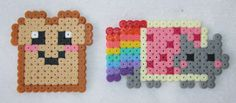 Toast and Nyancat magnet on Etsy, $1.48 CAD