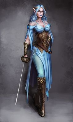 Blue elves ♀️ were highly effective sorcerers and they had powers that far out weighed their brethren. They were nimble of mind and nimble of foot . Elf Warrior, Wonder Woman