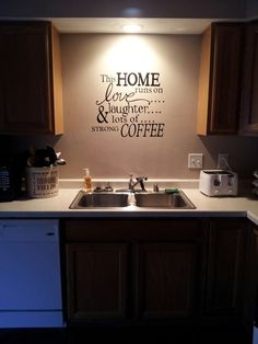 Cricut project   great idea to put at a coffee bar!
