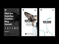 Pixelundcode Mobile Website | Black and White Mobile User Interface Design