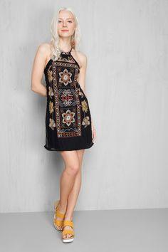 vestido floral alça | Dress to