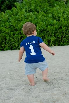 Infant/Toddler Boys First 1st Birthday personalized 1 jersey style shirt-birthday, boy, bright, modern, jersey, personalized, party, sports