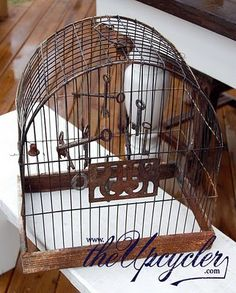 the upcycler- repurpose: Vintage Bird Cage Wind Chimes