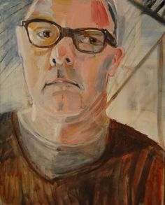 self portrait brown jumper  Oil painting by Phil Barron