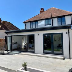 Love Renovate — Renovation tour - a kitchen extension with a modern industrial finish House Extension Plans, House Extension Design, Extension Designs, Roof Extension, House Design, Extension Ideas, Kitchen Extension Exterior, Garden Room Extensions, House Extensions