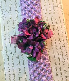 Vintage Millinery Flower Headband Purple Wine by RescuedOfferings