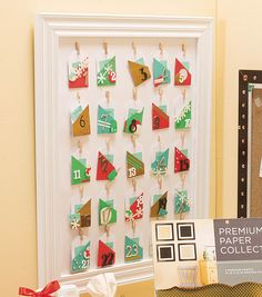 Holiday Bulletin Board Pennant | DIY Advent Calendar