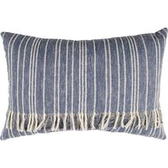 Better Homes & Gardens Fringed Blue Denim Decorative Pillow Image 1 of 1 Cricut, Better Homes And Gardens, Decorative Throw Pillows, Decor Pillows, Blue Stripes, Blue Denim, Farmhouse Decor, Country Farmhouse, French Country