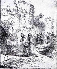 Jésus conduit au tombeau