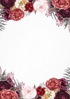 Invitation card - New Site Invitation Floral, Wedding Invitation Background, Floral Wedding Invitations, Invitation Cards, Flower Background Wallpaper, Framed Wallpaper, Flower Backgrounds, Des Fleurs Pour Algernon, Floral Border
