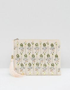 True Decadence 3D Embelsihed Zip Top Pouch ($43)