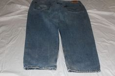 Levis  550 44x32 relaxed fit blue jean pre-owned #levis #Relaxed