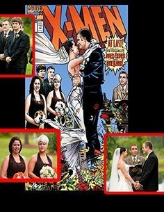 """Personalized Wedding Comic Book Covers - Custom Comic Book Cover Perfect GIFT. Personalized Wedding Comic Book A customer once came to me and say """"hey my anniversary is coming up and my wife and I are huge X-men fans I want to have the classic wedding cover from issue 30 of Marvel's X-Men re-made by replacing the characters on cover with my wife and I and My wedding party."""" The results turned out to be amazing!! So now I call it personalized comic book caricatures. A Personalized Comic…"""