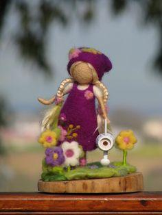 Needle felted waldorf inspired girl  gardener by Made4uByMagic ♡