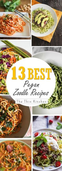 Here they are, the 13 Best Pegan Zoodle Recipes out there! A Pegan diet isa combination of the healthiest aspects of the Vegan diet and Paleo diet... Itis super healthy andcan also be delicious ...
