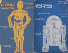 Star Wars Droid Poster 2-Pack. $16.00, via Etsy.