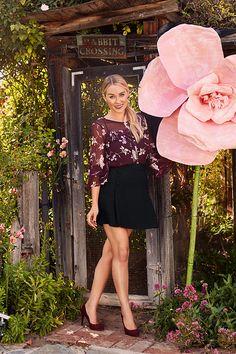 Lauren Conrad in an LC Lauren Conrad Chiffon Blouse