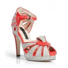 Bicolored Sandals With Heel Covered In Red Shoes Shoes and sandals with heels |2013 Fashion High Heels|