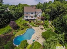 Elegant Five Bedroom Center Hall Colonial Situated On Cul De Sac. Cold Spring Harbor, Center Hall Colonial, Fish Hatchery, School District, Full Bath, Acre, Paths, Mansions, House Styles