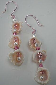 seashell earrings diy - Google Search