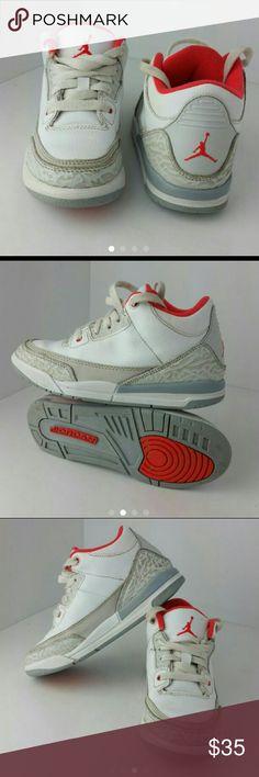 AIR JORDAN RETRO 3 III TODDLER SHOES VERY CLEAN INSIDE-OUT   TODDLER SIZE 13C   SKE # FM air Jordan  Shoes Sneakers
