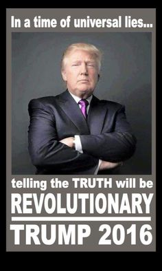 Vote Trump....YES PEOPLE.....VOTE TRUMP.....I'M TIRED OF ALL THE CORRUPTION IN…