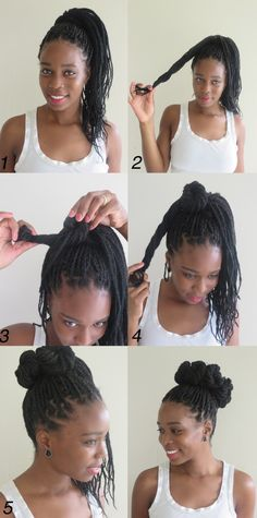 High Box Braids Bun From Mini Buns