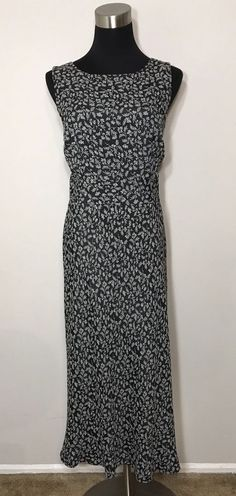 088ed843e7a75 Ann Taylor Loft Womens Size 10 Dress Black Beige Floral Career Business Work