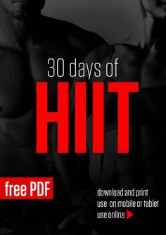 30 Days of HIIT is a visual no-equipment fitness program designed for higher burn in a shorter period of time.